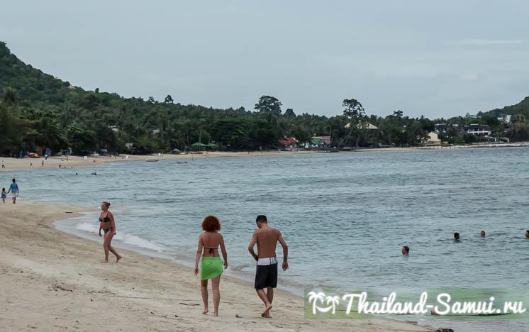 Отлив на пляже Ламай