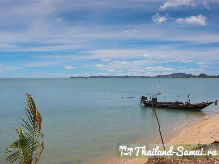 Пляж Маенам, фото сделано с западной части