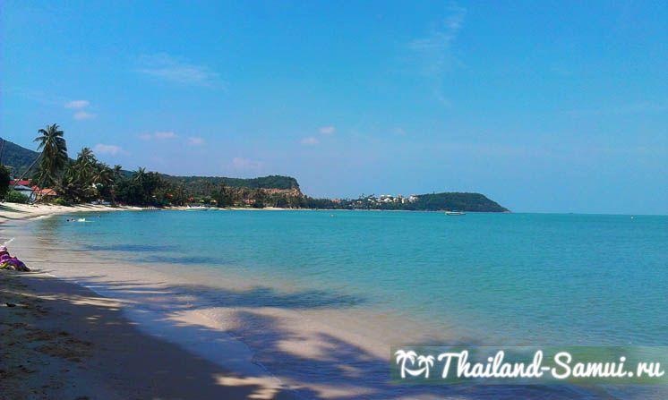 Фотография западной части пляжа Банграк